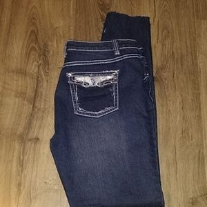 Miss Jeanlest distressed jeans- size 10